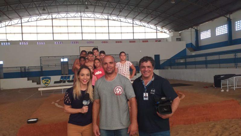 SBT Interior vem para Auriflama conhecer projeto voluntário de sumô