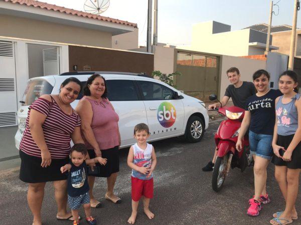 História de superação da família Silva é tema de reportagem do SBT