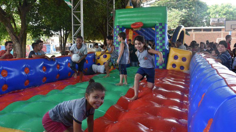 Festa das crianças em Aracanguá terminou nesta sexta