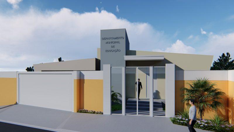 Guzolândia inicia construção da sede do Departamento de Educação