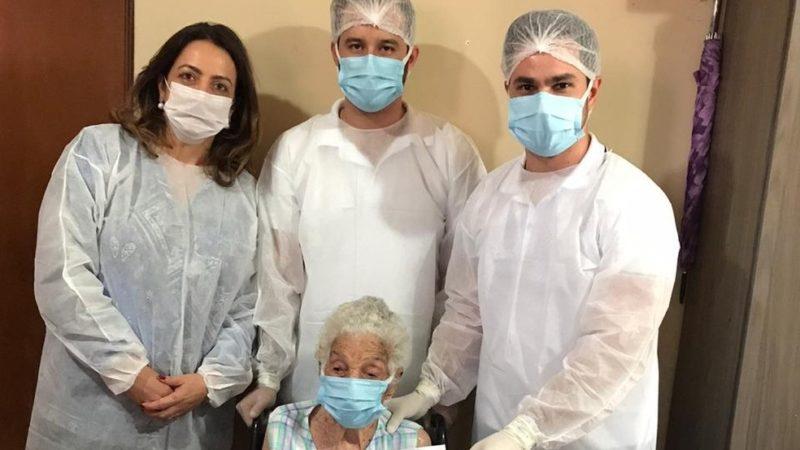 Idosa de 107 anos vence o coronavírus na região