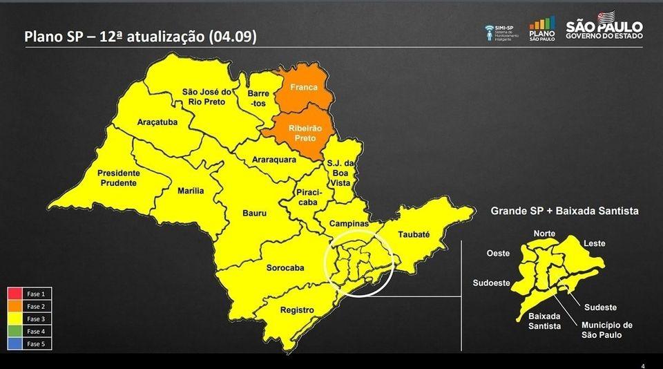 Cidades da região de Rio Preto avançam para Fase Amarela