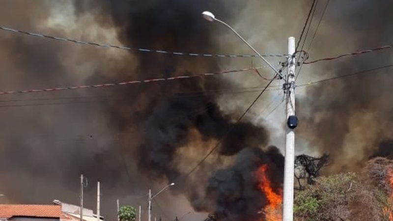Queimada em área de pastagem em Jales assusta moradores
