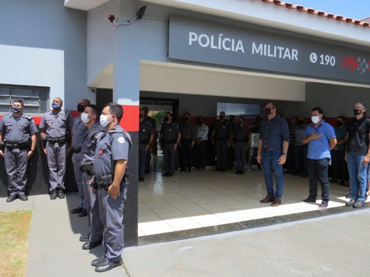 Após reforma, base da Polícia Militar de Guzolândia é reinaugurada