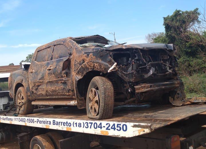 Veterinário morre após capotar caminhonete em vicinal de Auriflama