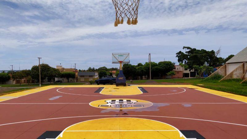 Obras em nova quadra de basquete estão quase finalizadas em Pereira Barreto