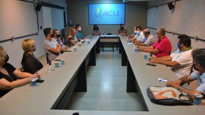 Em Jales, reajuste do ICMS é tema de reunião entre presidentes de Associações Comerciais
