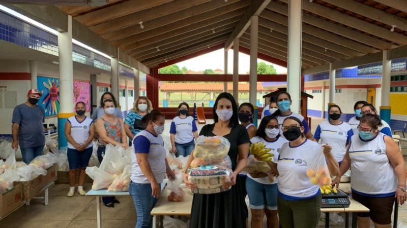 Katia Morita anuncia distribuição de mil kits merenda para alunos de Auriflama