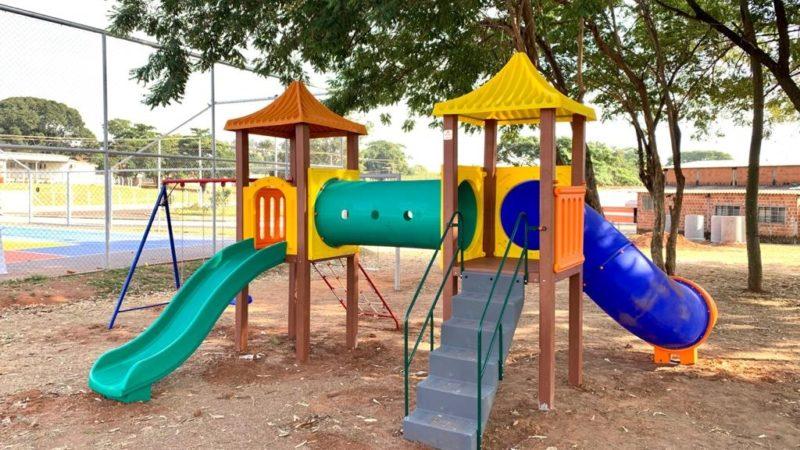 Área de lazer do Santa Maria recebe playground para as crianças
