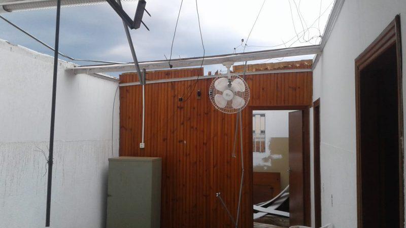 Ventos de até 100 KM/h destruíram telhados em Auriflama após temporal